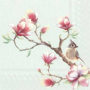 Bilde av Servietter kaffe Spring melody light blue