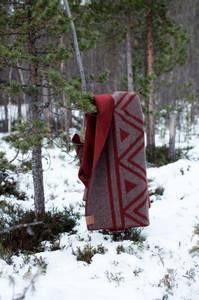 Bilde av Ullpledd brunmelert/rust - Sámi Stories