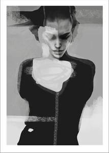 Bilde av Kunsttrykk Implode 30x40 - Anna Bülow